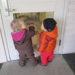 Outside, looking in at our Toddler friends.